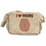 Zombie I Love Brains Messenger Bag