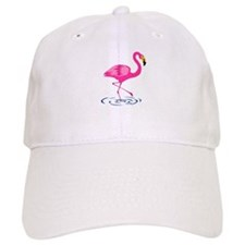Pink Flamingo on One Leg Baseball Cap