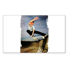 Skateboarding the Wall Decal