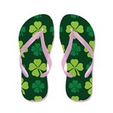 Clover St Patricks Flip Flops