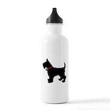 Scottish Terrier Silhouette Water Bottle