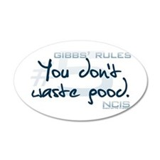 Gibbs' Rules #5 - You Don't W 38.5 x 24.5 Oval Wal