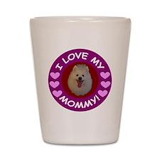 American Eskimo Dog Shot Glass