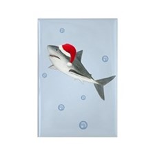 Christmas - Santa - Shark Rectangle Magnet
