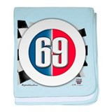 69 Car logo baby blanket