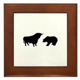 Bull bear Framed Tile