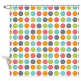 Dots Colorful Light Shower Curtain
