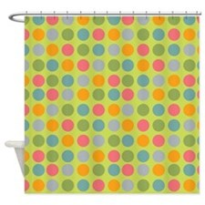 Dots Light Green Shower Curtain
