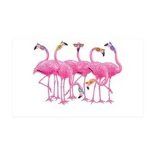 Cool Flamingoes 38.5 x 24.5 Wall Peel