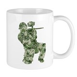 Worn, Camo Paintball Small Mugs