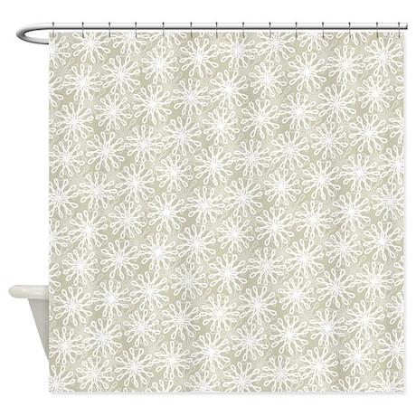 Flower Loop Neutral Shower Curtain By Admin CP45405617