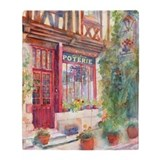 French Store Front Poterie European Blanket