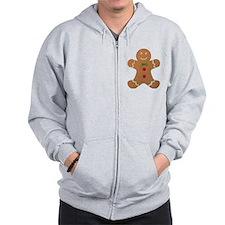 Gingerbread man Zip Hoodie
