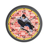 Skateboarding 2 Wall Clock