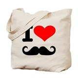 I love mustache Tote Bag