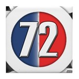 72 Car Logo Tile Coaster