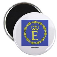 "Queen Elizabeth II Flag 2.25"" Magnet (10 pack)"