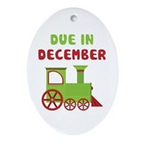 Christmas Train December Ornament (Oval)