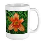 .orange daylily. Large Mug