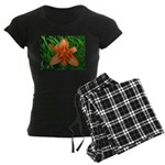 .orange daylily. Women's Dark Pajamas