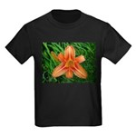 .orange daylily. Kids Dark T-Shirt