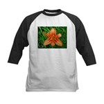 .orange daylily. Kids Baseball Jersey