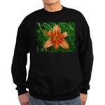 .orange daylily. Sweatshirt (dark)