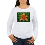 .orange daylily. Women's Long Sleeve T-Shirt