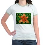 .orange daylily. Jr. Ringer T-Shirt