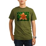 .orange daylily. Organic Men's T-Shirt (dark)