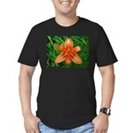.orange daylily. Men's Fitted T-Shirt (dark)