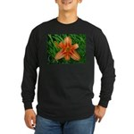 .orange daylily. Long Sleeve Dark T-Shirt