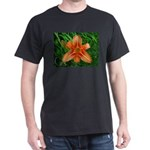 .orange daylily. Dark T-Shirt