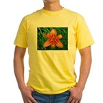 .orange daylily. Yellow T-Shirt
