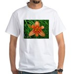 .orange daylily. White T-Shirt