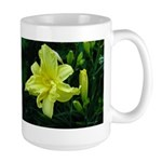 .pale yellow. Large Mug