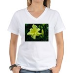 .pale yellow. Women's V-Neck T-Shirt