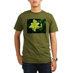 .pale yellow. Organic Men's T-Shirt (dark)