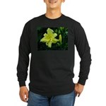 .pale yellow. Long Sleeve Dark T-Shirt
