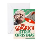 The Gingrich Who Stole Christmas -10 Holiday Cards