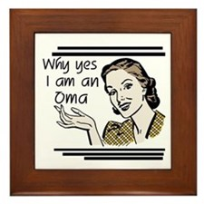 Retro Oma Framed Tile