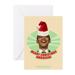 Obama Merry Christmas Greeting Cards (Pk of 10)