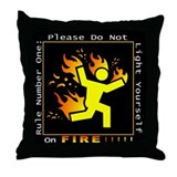 FireGuy Throw Pillow