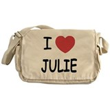 I heart julie Messenger Bag