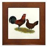 Old English Pheasant Fowl Framed Tile