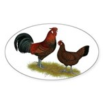 Old English Pheasant Fowl Sticker (Oval 10 pk)