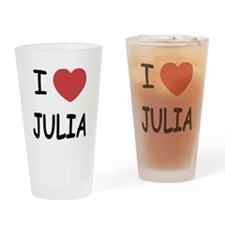 I heart julia Drinking Glass