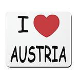 I heart austria Mousepad