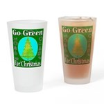 Go Green For Christmas Drinking Glass