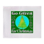 Go Green For Christmas Throw Blanket
